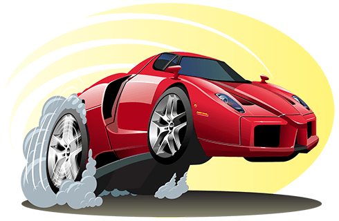 Stickers pour enfants: red sports car 0