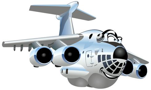 Stickers pour enfants: Avions de transport lourd