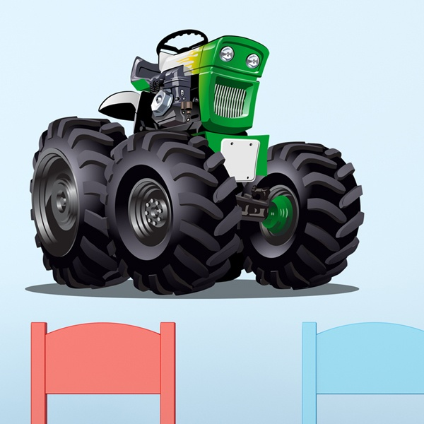 Stickers pour enfants: Monster Truck 25