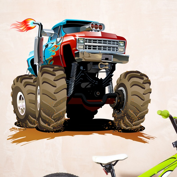 Stickers pour enfants: Monster Truck 28