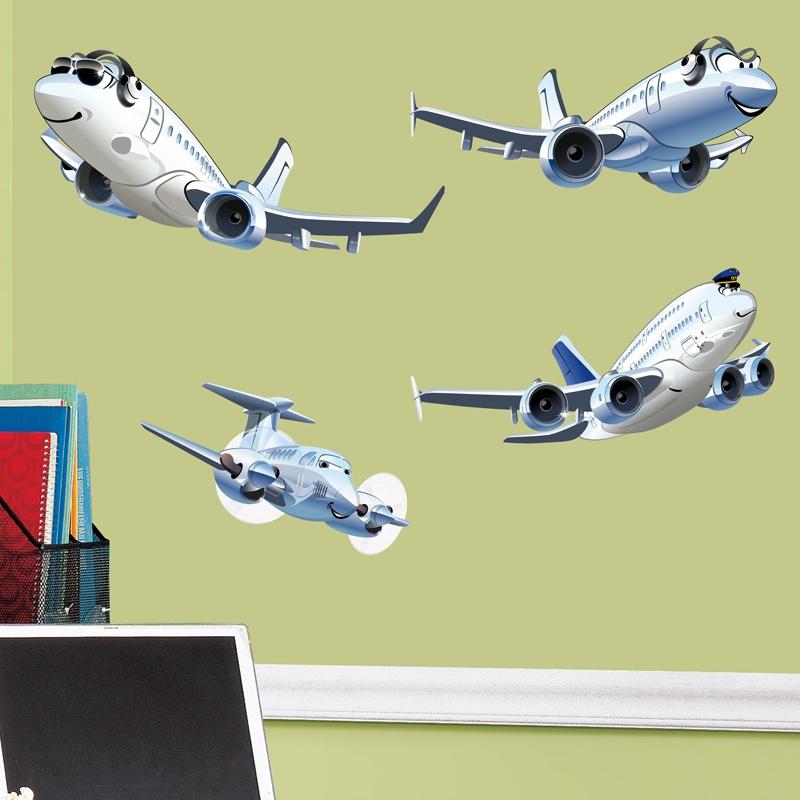 Stickers pour enfants: Avions Kit