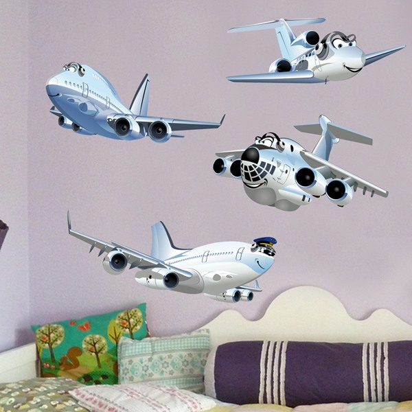 Stickers pour enfants: Kit d'avion de passager amusant