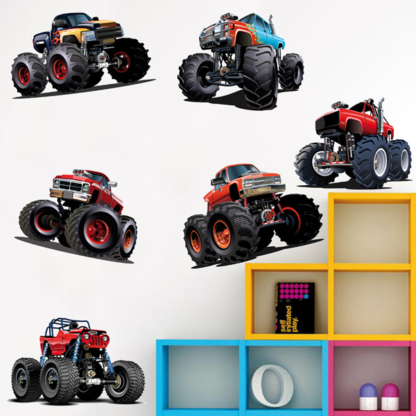 Stickers pour enfants: Kit Monster Truck