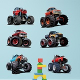 Stickers pour enfants: Kit Monster Truck 3