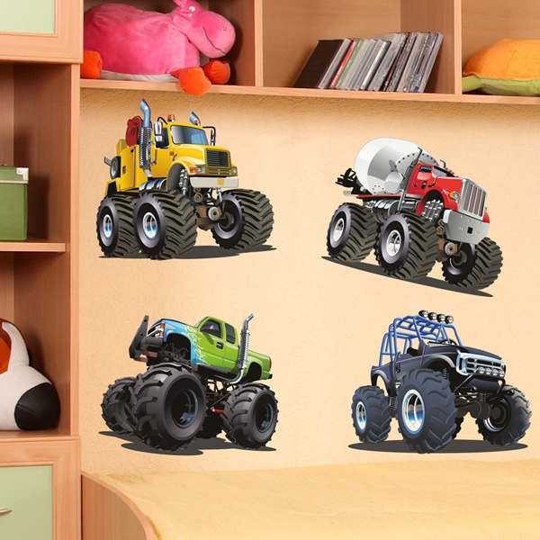 Stickers pour enfants: Kit Monster Truck Big