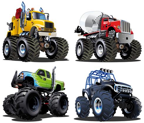 Stickers pour enfants: Kit Monster Truck 2