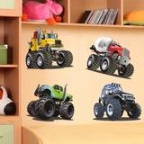 Stickers pour enfants: Kit Monster Truck 2 3