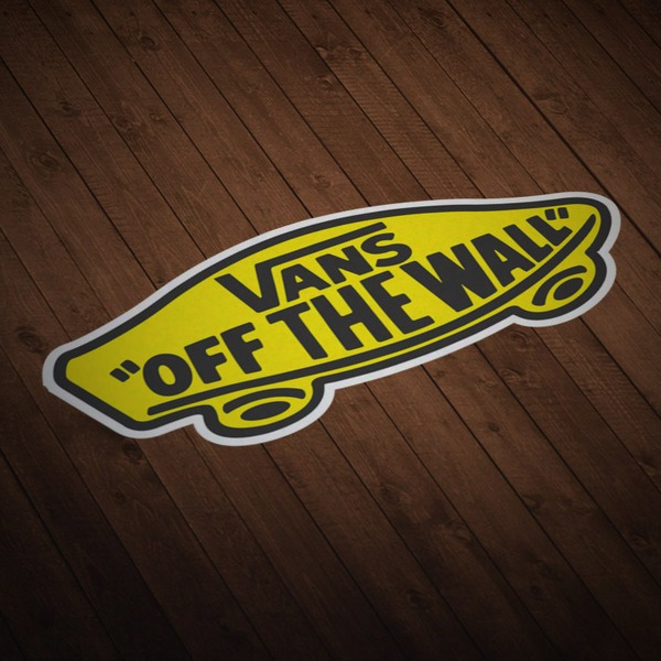 Autocollants: Vans off the wall jaune