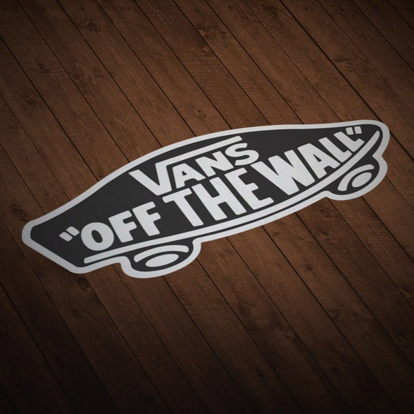 Autocollants: Vans off the wall noir 1