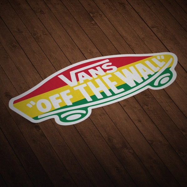 Autocollants: Vans off the wall Rastafari