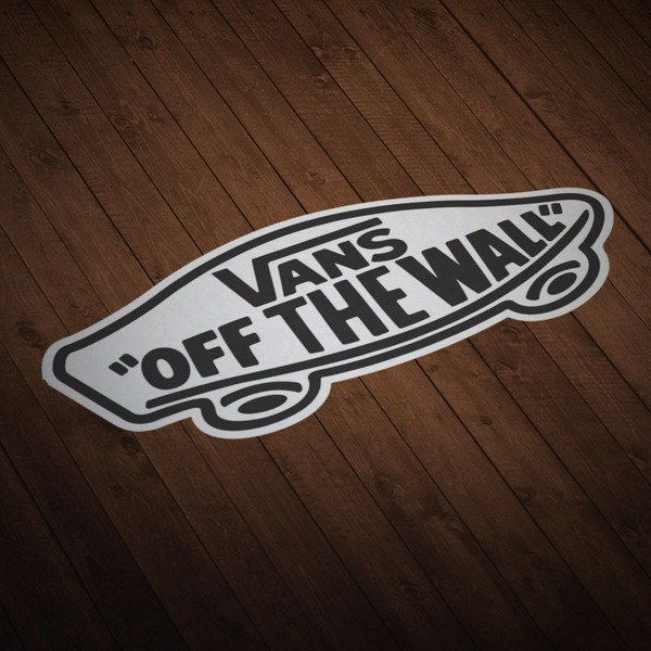 Autocollants: Vans off the wall blanc