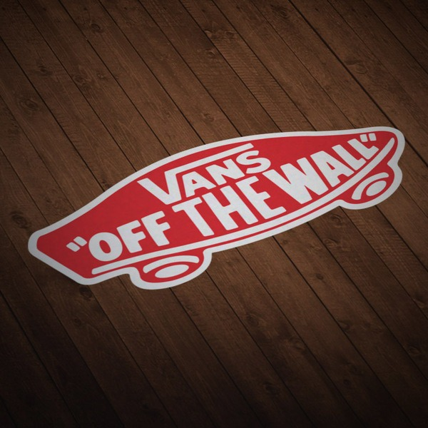 Autocollants: Vans off the wall rouge