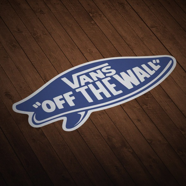 Autocollants: Vans off the wall surf bleu