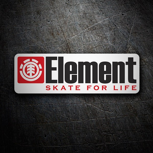 Autocollants: Element skate for life