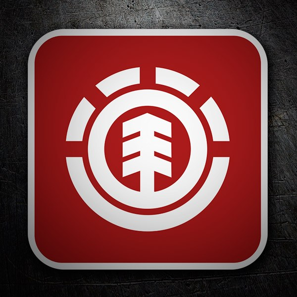 Autocollants: Element logo rouge
