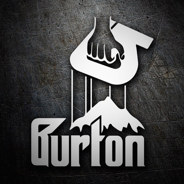 Autocollants: Burton Godfather