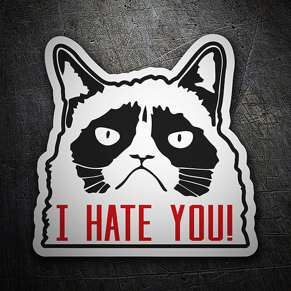 Autocollants: Chat I hate you