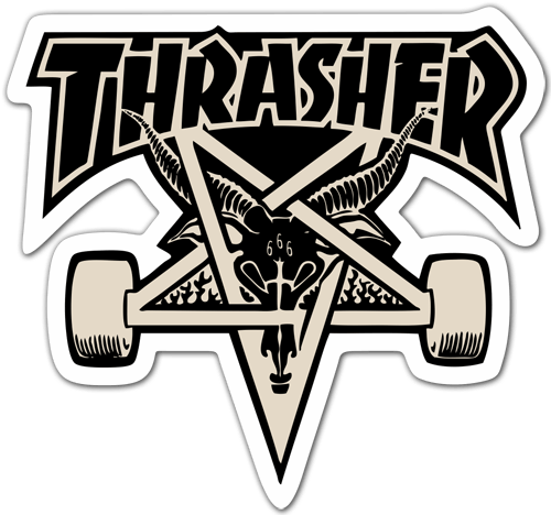 Autocollant Thrasher Skate Webstickersmuraux Com