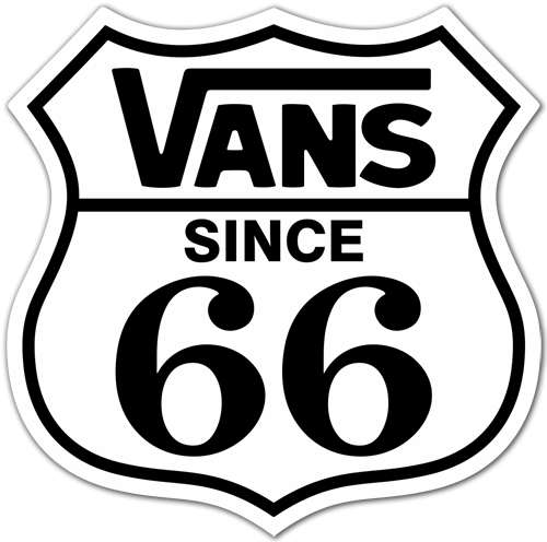 autocollant vans since 66 2. Black Bedroom Furniture Sets. Home Design Ideas