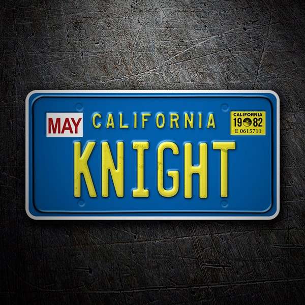 Autocollants: Enregistrement de voiture Knight Rider