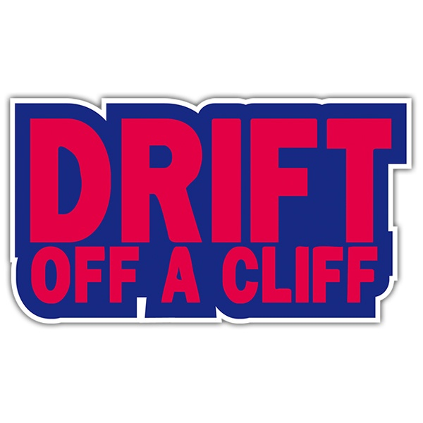 Autocollants: Drift off a cliff