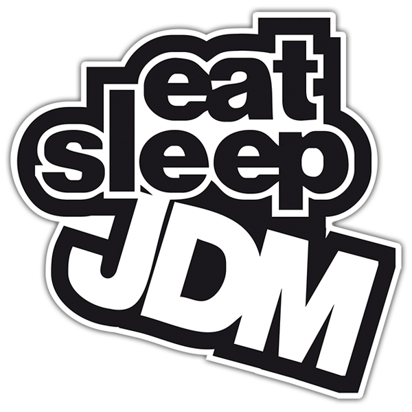 Autocollants: JDM eat sleep
