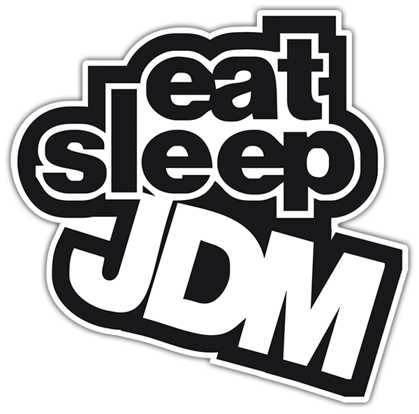 Autocollants: JDM eat sleep 0