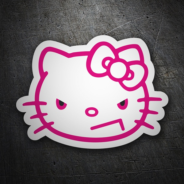 Autocollants: Hello Kitty en colère
