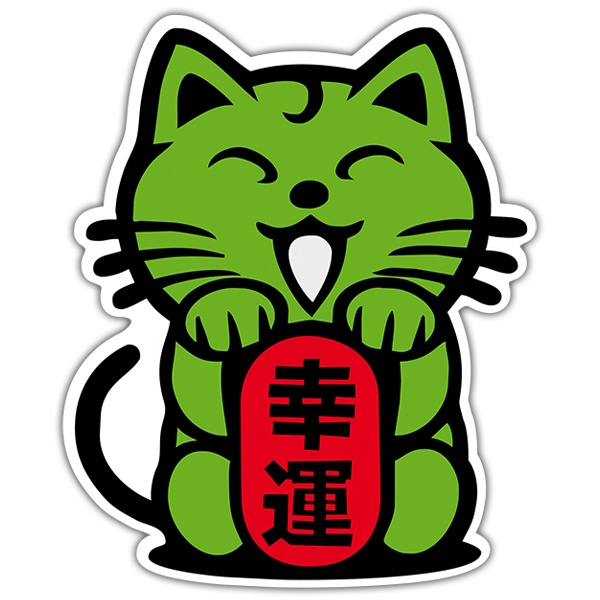 Autocollants: Chat vert chinois