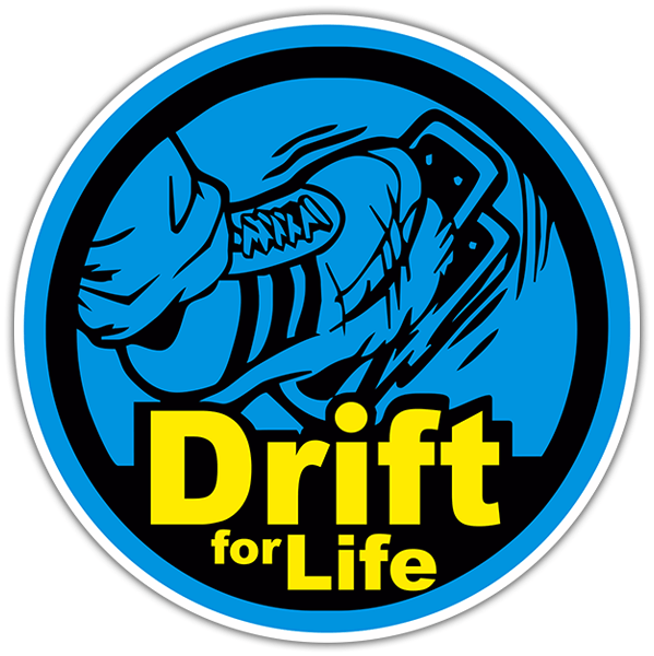 Autocollants: Drift for Life
