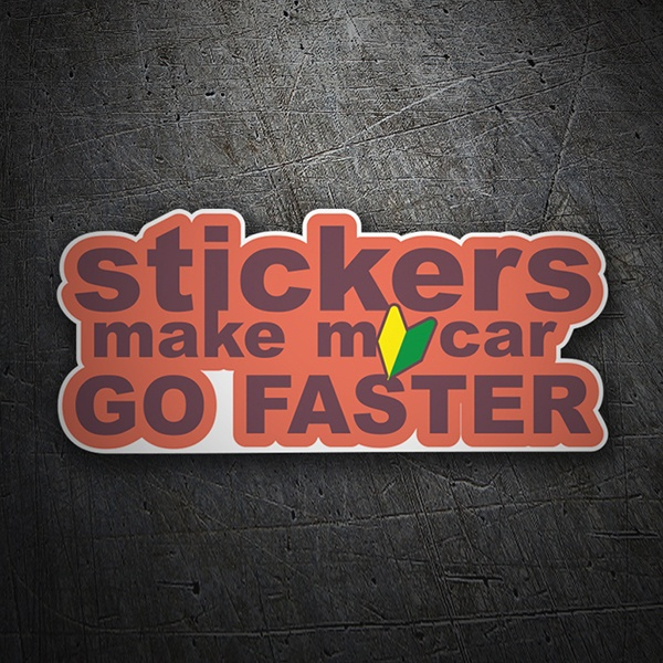 Autocollants: Stickers make my car go faster