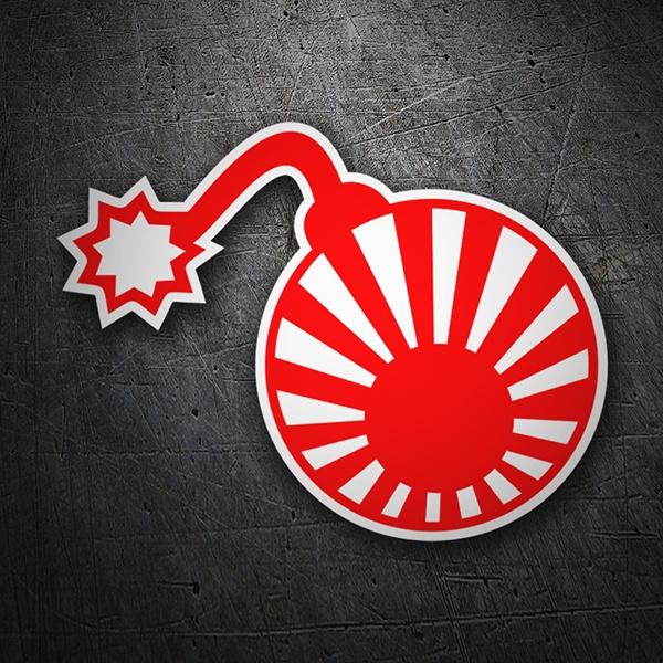 autocollant bombe drapeau soleil levant japonais. Black Bedroom Furniture Sets. Home Design Ideas