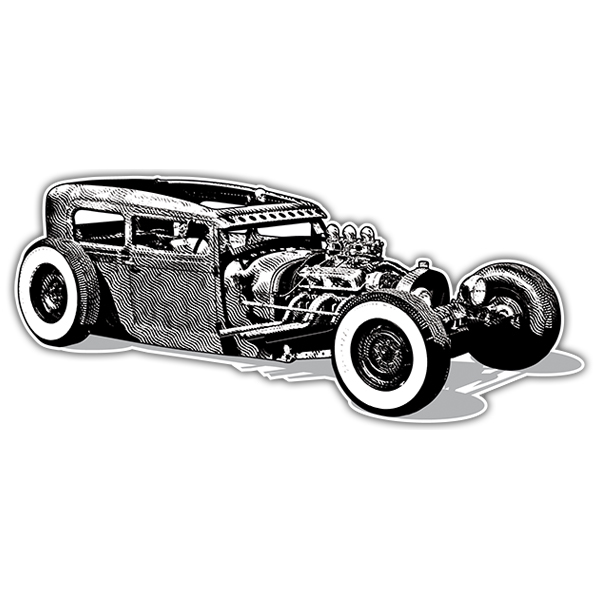 Autocollants: Hot Rod Car