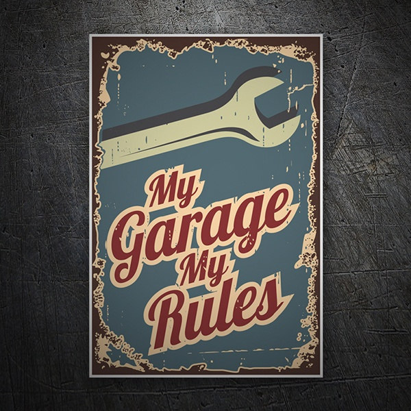 Autocollants: My Garage My Rules