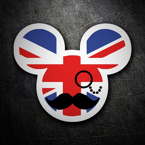 Autocollants: Great Britain Mickey Mouse