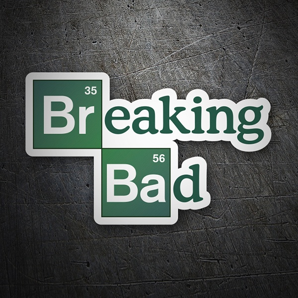 Autocollants: Breaking bad logo