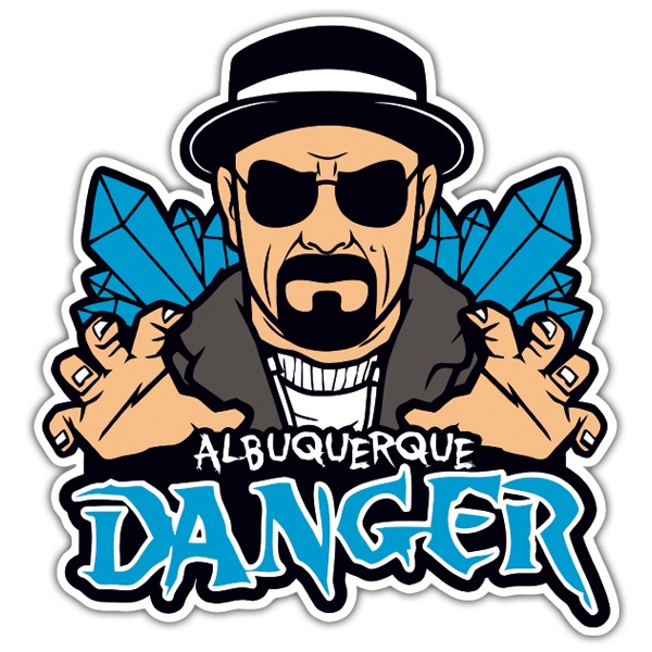 Autocollants: Breaking Bad Albuquerque Danger