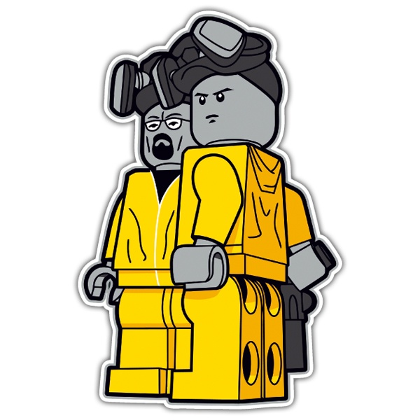Autocollants: Breaking Bad Lego