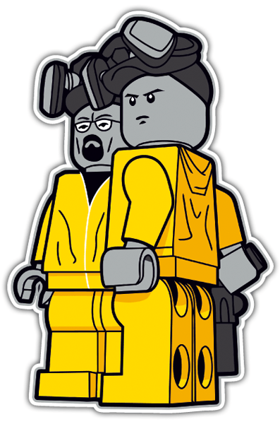Autocollants: Breaking Bad Lego 0