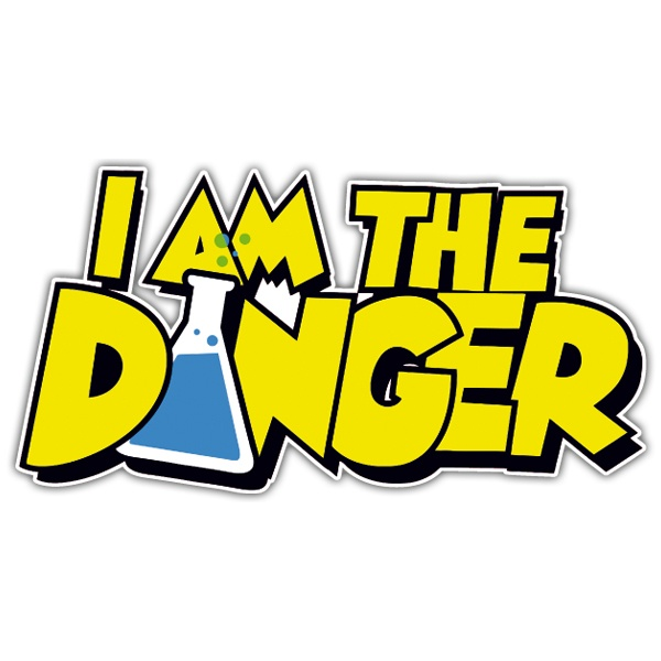 Autocollants: Breaking Bad I am the Danger