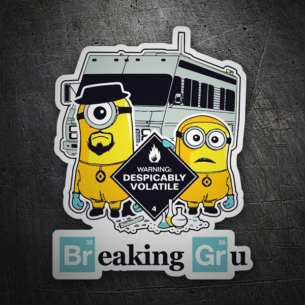Autocollants: Breaking Bad Minion 1
