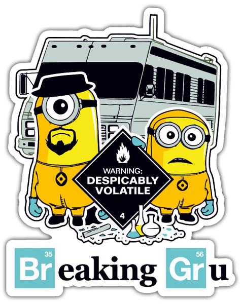 Autocollants: Breaking Bad Minion 0