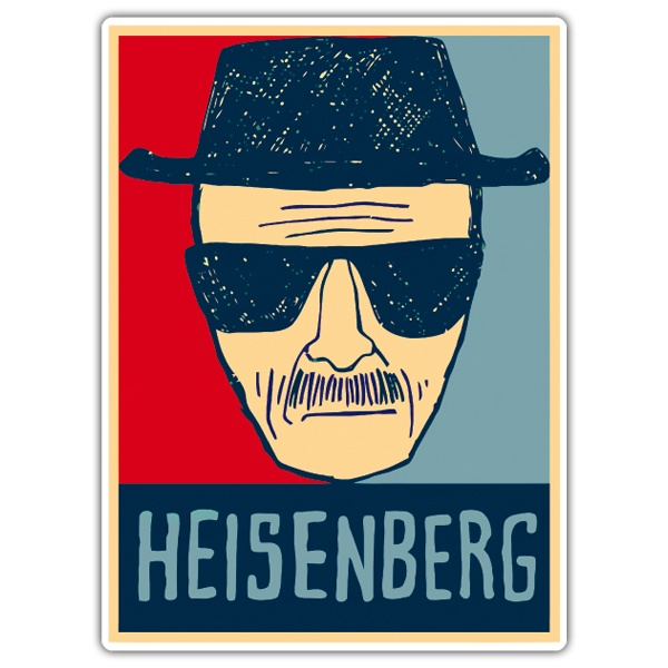 Autocollants: Breaking Bad Heisenberg 2