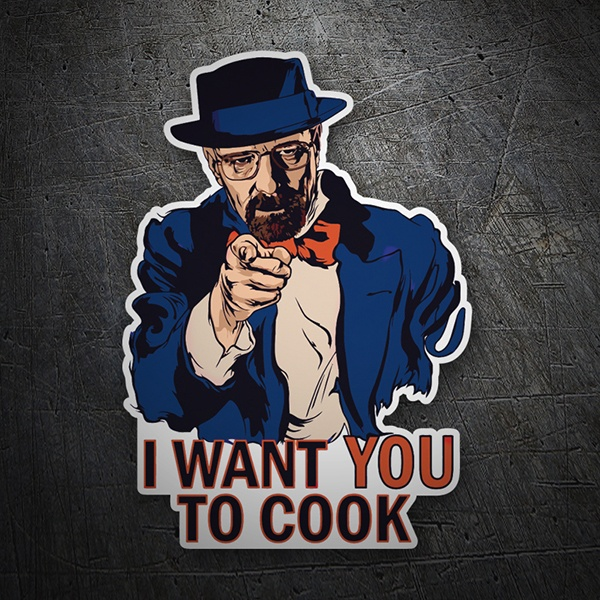 Autocollants: Breaking Bad I want you to Cook
