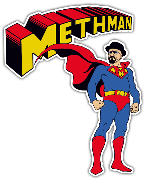 Autocollants: Breaking Bad Superman