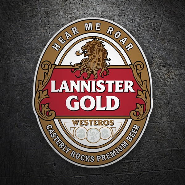 Autocollants: Game of Thrones Lannister Gold