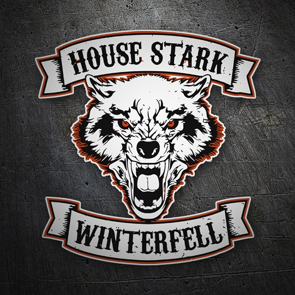 Autocollants: Games of Thrones House Stark - Winterfell 1