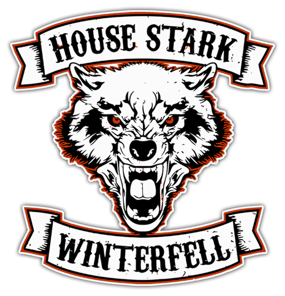 Autocollants: Games of Thrones House Stark - Winterfell 0