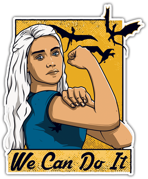 Autocollants: Game of Thrones We Can Do It
