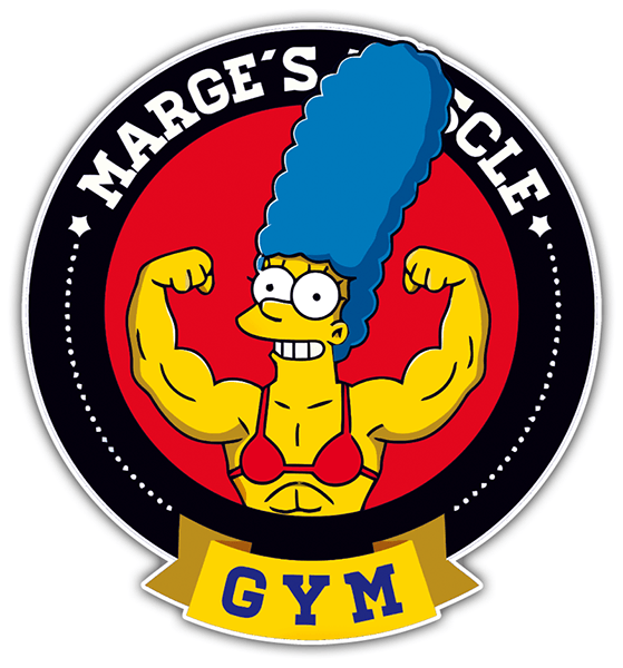 Autocollants: Marge Muscle